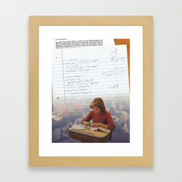 I've Learned; [Dear Capitalist Scum] Framed Art Print