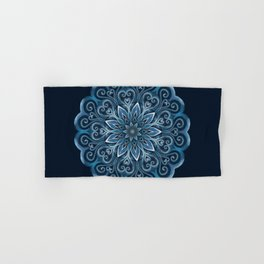 Blue Water Mandala Swirl Hand & Bath Towel