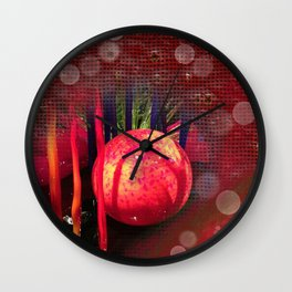 Christmas Bubbles #PopArt Wall Clock