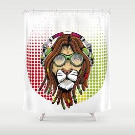 Rastafari Lion Shower Curtain