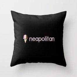 Ice Cream Flavors: Neapolitan Throw Pillow