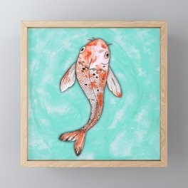 Koi Framed Mini Art Print