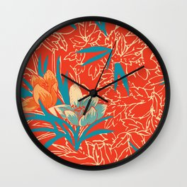 Retropico ~ Orange Wall Clock