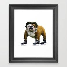 Flow Dog Framed Art Print