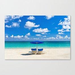 Turquoise Tropical Paradise Canvas Print