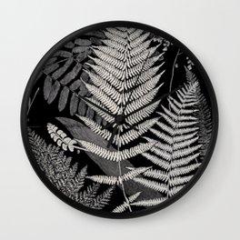 Botanical Ferns Wall Clock