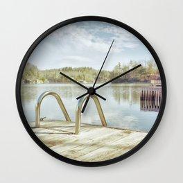 Lake Summit in January Wall Clock