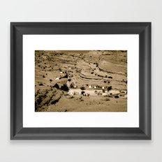 Desert village Framed Art Print
