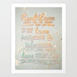 Real Love Art Print