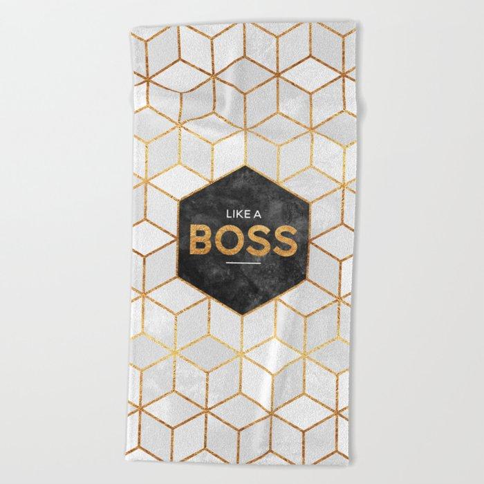 Like a boss Beach Towel