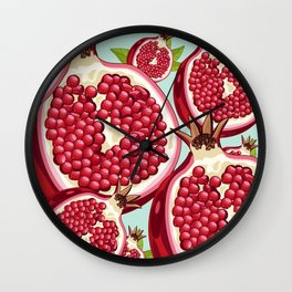 Pomegranate 2 Wall Clock
