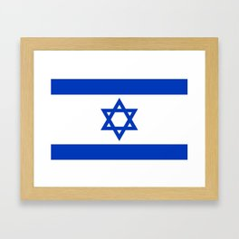 Flag of the State of Israel - High Quality Image Framed Art Print