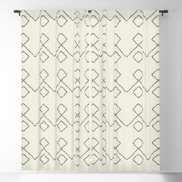 Embroided pattern Blackout Curtain