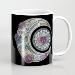 Spiral floral moon Coffee Mug