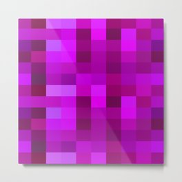 Purple Mosaic Metal Print