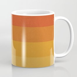 Retro Geometric Sunset Coffee Mug