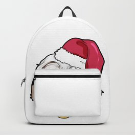 Havanese Dog Christmas Hat Present Backpack