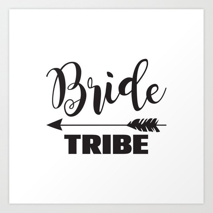 Bride Tribe Arrow Groom Tribe Bridal Party Bridesmaid