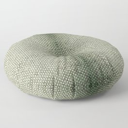 Green flax sheet cloth texture abstract Floor Pillow