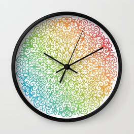 Round Ornament Wall Clock