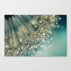 Indigo Sparkles Canvas Print