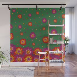Retro Blooming Wall Mural