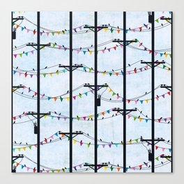 Telephone Poles - FLAGS Canvas Print