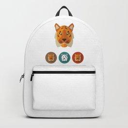 Tiger Illustration Backpack