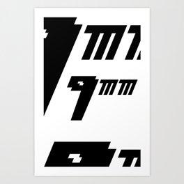 Nueve milimetros Art Print