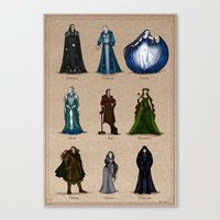 valar morghulis Canvas Prints featuring The Aratar by wolfanita