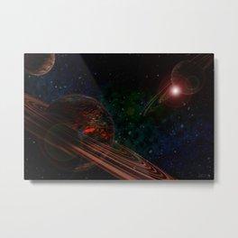 Space Scene Three Metal Print