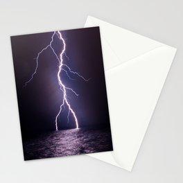 Lightning at Sea Stationery Cards
