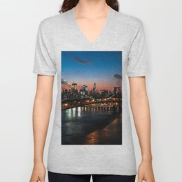 New York New York Unisex V-Neck