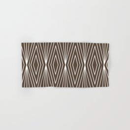Simple Modern Diamond Lines Brown Hand & Bath Towel
