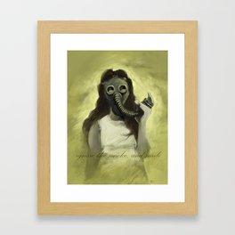 Ignore the Smoke Framed Art Print