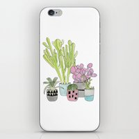 cactus iPhone & iPod Skins featuring Cactus by Olivia James