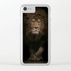 Lion photography Clear iPhone Case