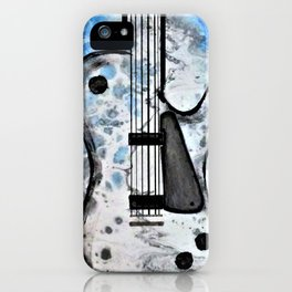 Guitar Art. Featured on back cover of The Music and Art of Black Cat Records. iPhone Case