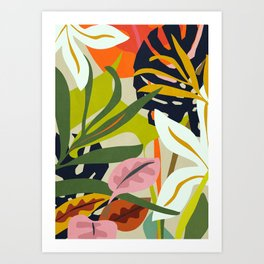 Jungle Abstract 2 Art Print