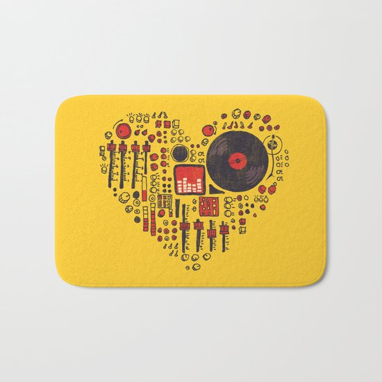 Music in every heartbeat Bath Mat