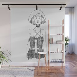 Black moon witch Wall Mural