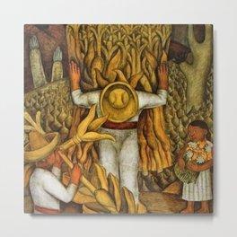 La Fiesta del Maiz by Diego Rivera Metal Print