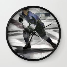 Let's Go! - Ice Hockey Player Wall Clock