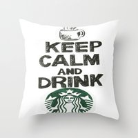 starbucks Throw Pillows featuring Starbucks by jrgff