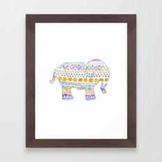 boho elephant Framed Art Print