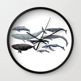 Whales and right whale Wall Clock