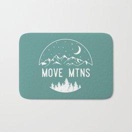 Move Mtns White Bath Mat