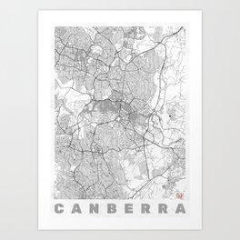 Canberra Map Line Art Print