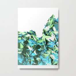 Glitchy Oceanscape (Pretty 14) Metal Print