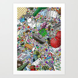Addicted Art Print